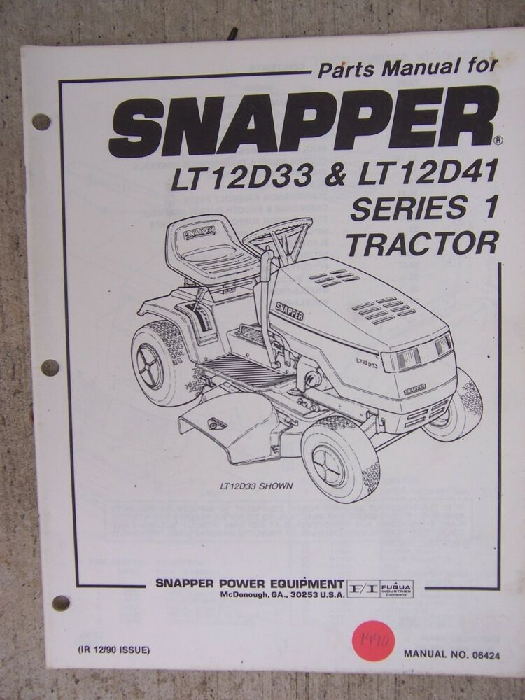 snapper lawn mower owners manual