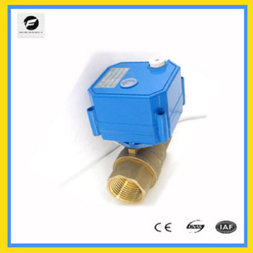 1 2 2-way motorized ball valve with manual override