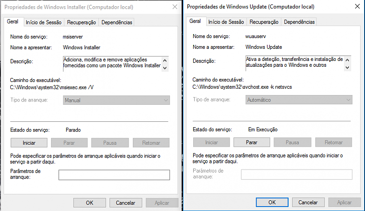 windows installer service manual or automatic