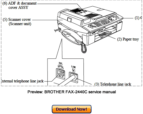 brother mfc 210c service manual